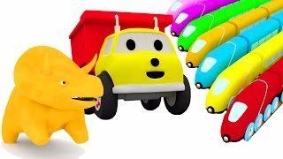 Aprende los colores de los carros y los números con Dino el Dinosaurio y Ethan el camión volquete 🚕 - YouTube