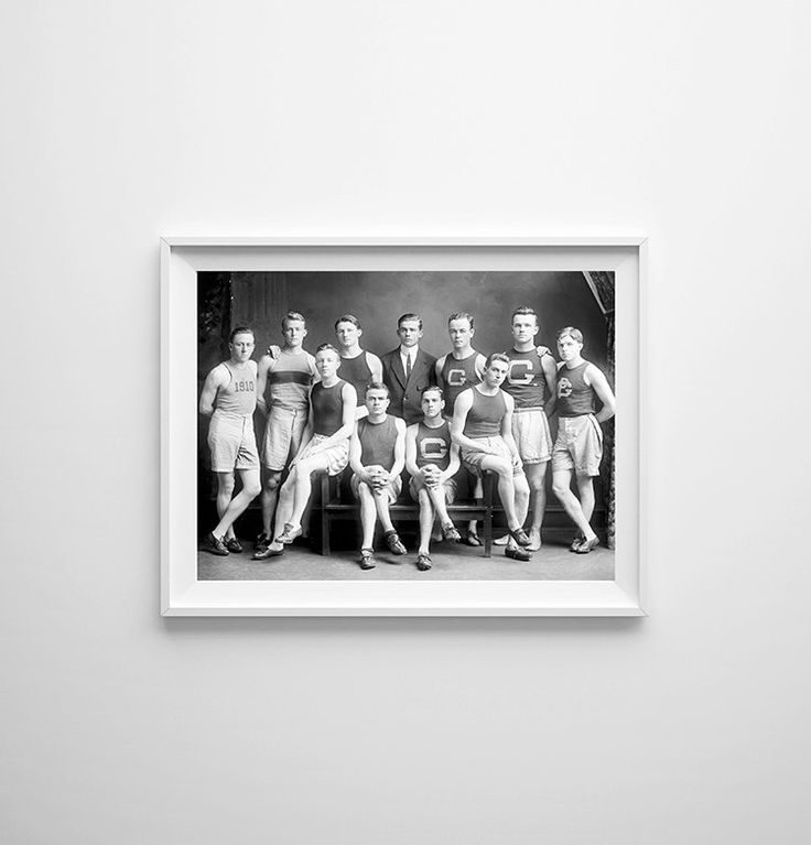 """22"""" x 18"""" - SALE Vintage Photography Vintage Track Large Print of Georgetown Track Team (10.00 USD) by anewalldecor"""