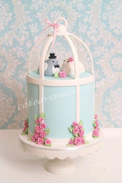 Bird Cage Wedding Cake by camille