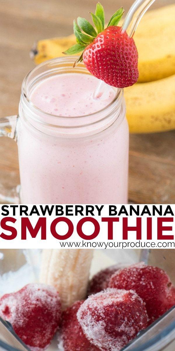 Machen Sie unseren Erdbeer-Bananen-Smoothie für eine süße Belohnung oder als Frühstücks-Smoothie …   – smoothies