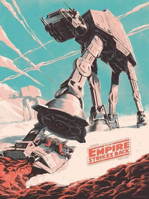 "Juan Esteban Rodriguez ""The Empire Strikes Back"" screen print"