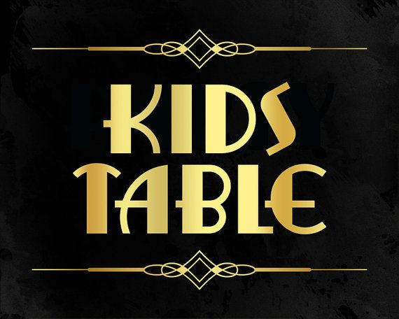 Kids table wedding sign. Printable wedding by PartyGraphix on Etsy