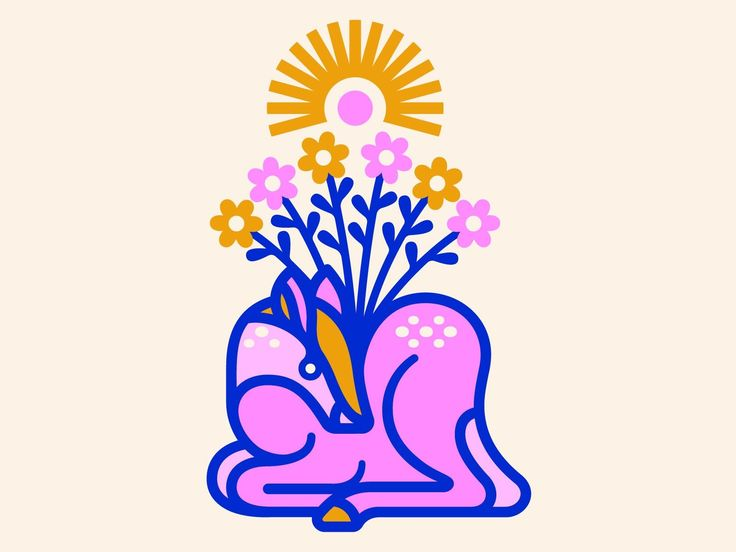 - b5a6b89c36cb2deb4cca0efbb8d7da37 - Peace Deer by Alex Perez #dribbble #design #illustration #peace #branding #dribbblers