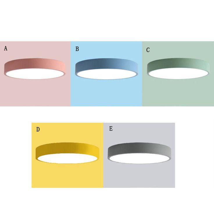 Deckenleuchte Led Modern Round in der Farbe Macarons für Kinderzimmer