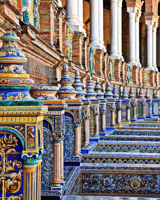 The painted ceramic benches of Plaza España Seville. They represent all the provinces in Spain and are arranged around the square.  https://ift.tt/2F7rw7R  Gorgeous photo by @mile_di87 #Seville #Sevilla #PlazaEspaña #Ceramic #Andalucia #provinces #terratraditionstours #summerinspain #spain_vacations #spain_greatshots #living_europe #ok_spain #ok_europe #loves_spain #estaes_espania #estaes_andalucia #andalucia_monumental #ig_andalucia #travelphotography #traveladdict #plazadeespaña…