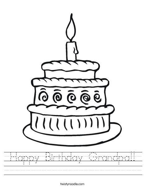 Happy Birthday Grandpa Worksheet - Twisty Noodle ...