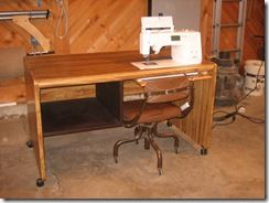 this is an awesome diy sewing table from a thrift store desk i need to