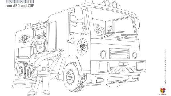 Ausmalbilder Feuerwehr Sam 01