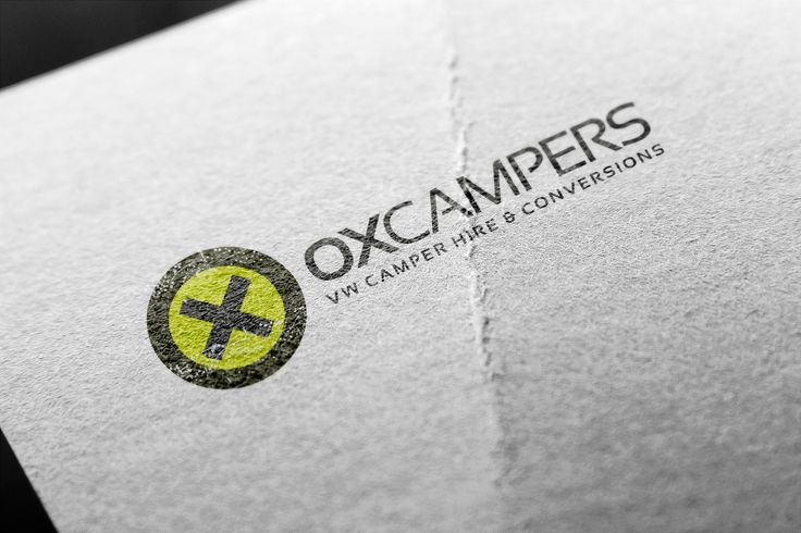 A brand logo for OX Campers, a VW Campervan hire and conversion business. #browncreative #oxcampers
