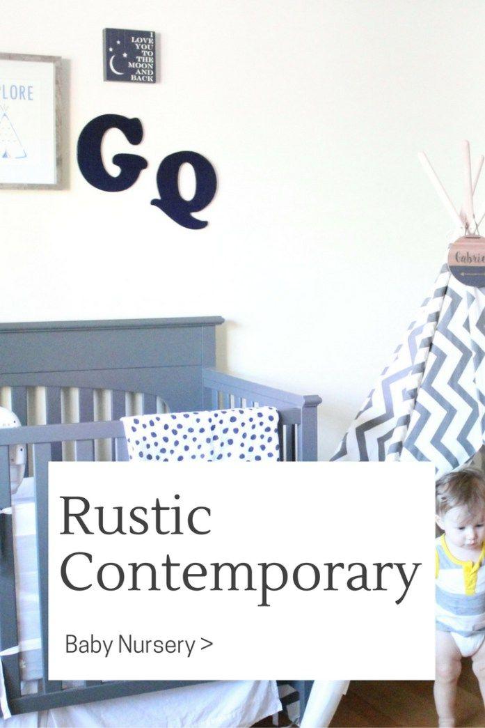 Baby Boy Rustic Contemporary Nursery Decor