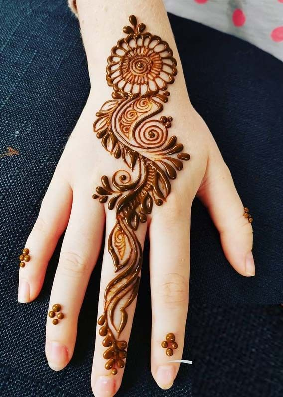 Front Hand Cute Simple Arabic Mehndi Design Images Photos 2019