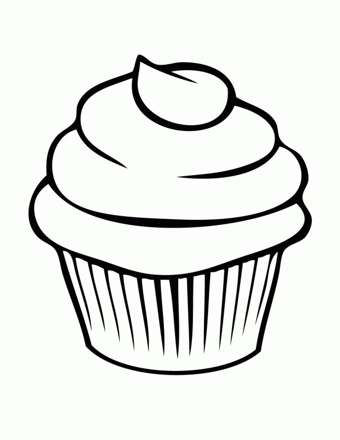 pretty cupcake coloring page - Pretty Pictures To Color