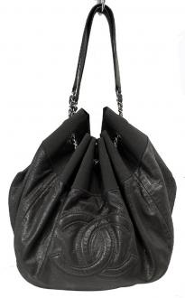 Chanel Leather Baby Coco Cabas CC Logo Hobo Shopper Tote Bag