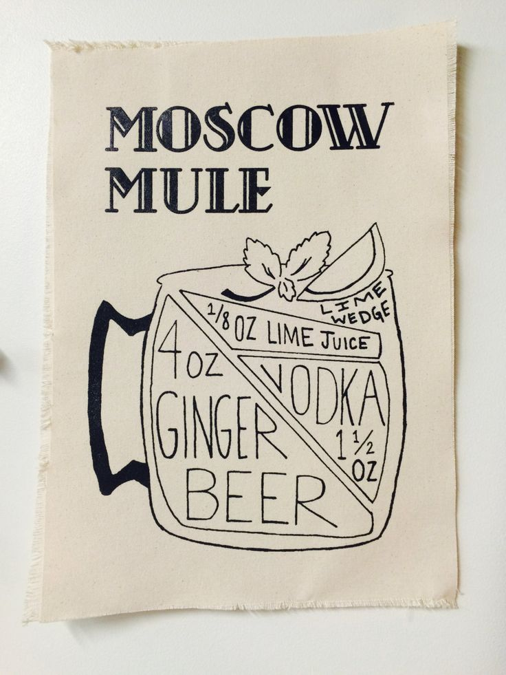 Moscow Mule Recipe Canvas Print by HipHues on Etsy                                                                                                                                                      More I like the idea but a different drink