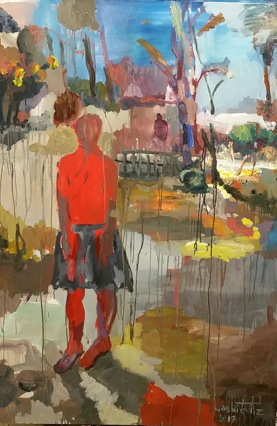 Gerard Waskievitz wo und wann oil on canvas 200x140cm