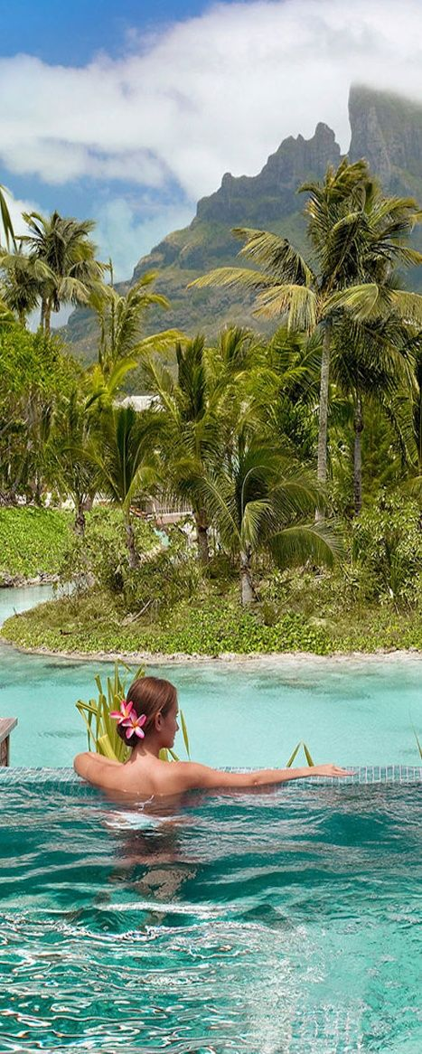 Take Me Away.....To Bora Bora! See More at thefrenchinspiredroom.com