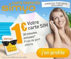 Carte SIM pour seulement 1€, frais de port inclus, avec en plus 30 minutes de crédit gratuit offert