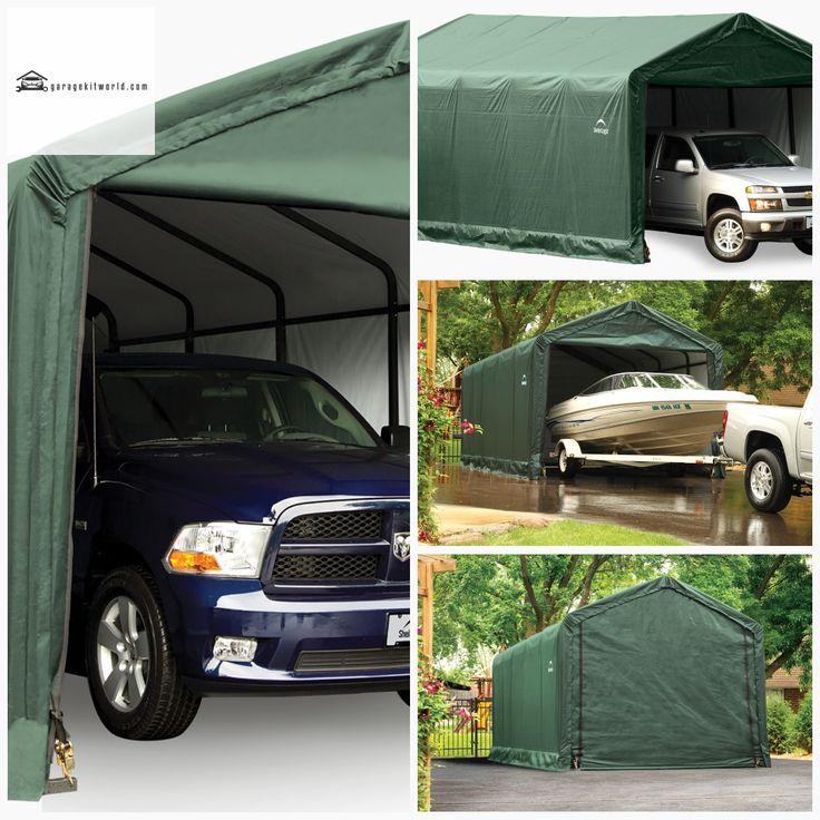 ShelterTube Green 12 x 25 ft. Garage Kit garage