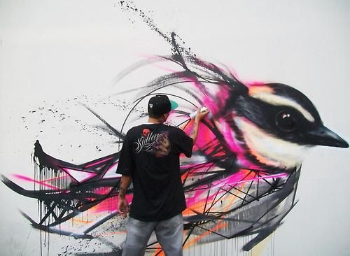 Badass progress shot from L7M in Sao Paulo - piece is called Freedom!