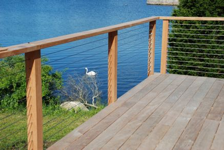 Metal cable deck railings