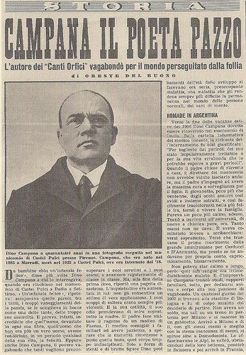 Dino Campana: http://genrivista.wordpress.com/2013/01/18/poesiannouno-se-ti-dico-poesia/