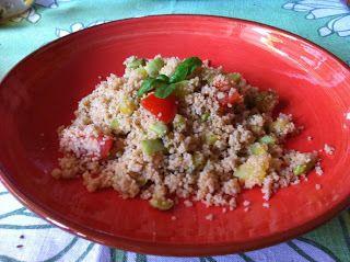 Insalata di Cuscus di grano saraceno con trombette e pomodoro fresco