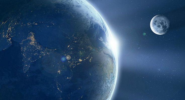 A Lua está se afastando da Terra