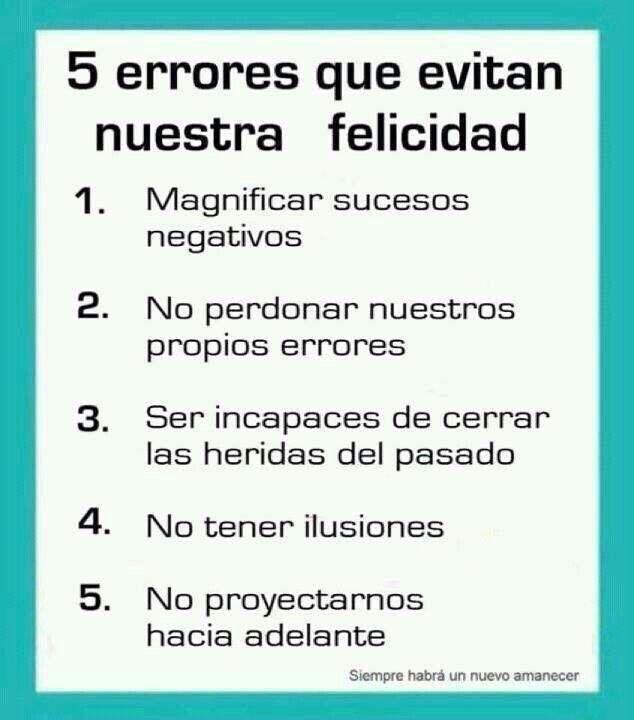 5 errores que evitan nuestra felicidad