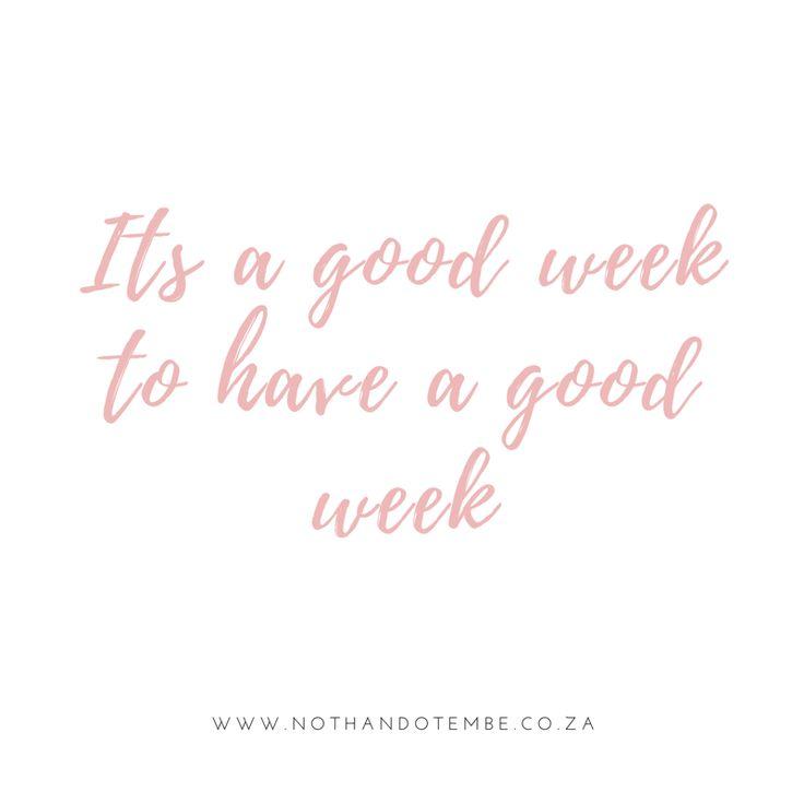 Monday. New week