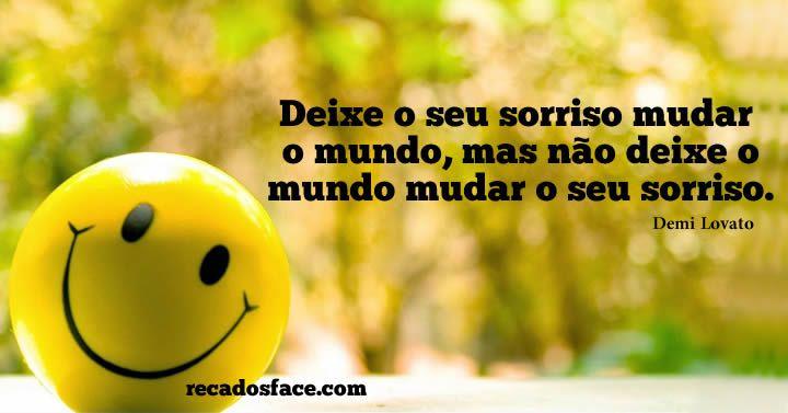 Deixe seu sorriso mudar o mundo