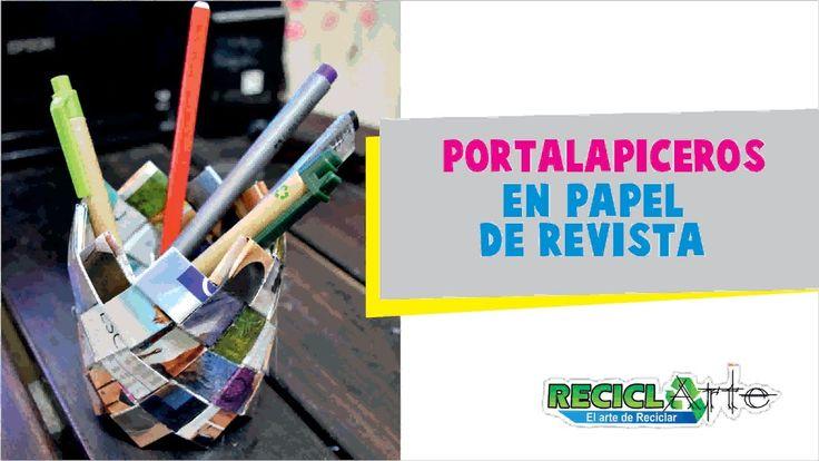DIY ♻ Portalapiceros en papel de revista https://youtu.be/fMCQFz3KxHU