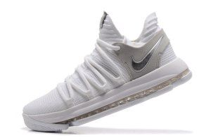 68f7d777711c Men s Nike Zoom KD 10 EP White Chrome 897816 100 boys Basketball Shoes