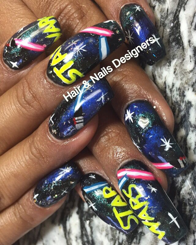 82 best hair nails designers images on pinterest designers star wars nails prinsesfo Image collections