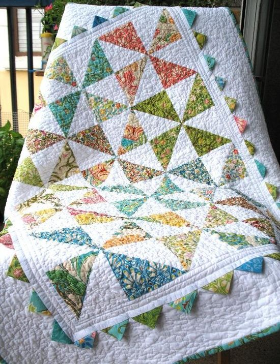 Green Toile Quilts - Brighton Toile Handmade Qulits By Williamburg Colllection.