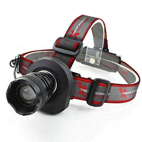 Xtreme Bright Safety Headlamp  Great Addition to Camping  Hiking Equipment  Reliable LED Flashlight or Portable Work Light *** For more information, visit image link. Note:It is Affiliate Link to Amazon.