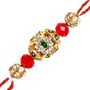 Diamond Rakhi: This amazingly crafted zardozi rakhi adorned with diamonds & sequins is sure to adorn your brother's wrist. Costs Rs 378/- http://www.tajonline.com/rakhi-gifts/product/rdr62/diamond-rakhi/?aff=pinterest2013/