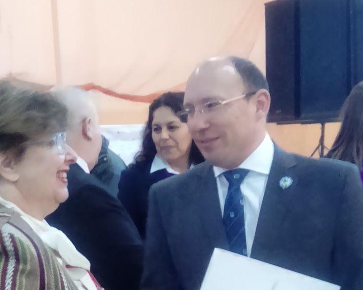 Llego el Ministro @FernandoMenchi y Conversa con nuestra conferencista la doctora Sara Melgar