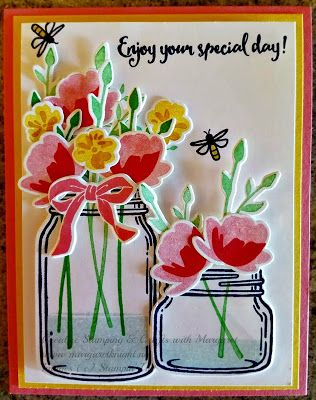 """Special Day"" card using Stampin' Up! Jar of Love Bundle and Dragonfly Dreams Stamp Set"