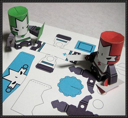 Castle Crashers Free Paper Toys Download - http://www.papercraftsquare.com/castle-crashers-free-paper-toys-download-2.html