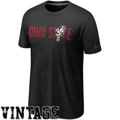 Nike Ohio State Buckeyes Vault  Vintage Heathered T-Shirt - Black