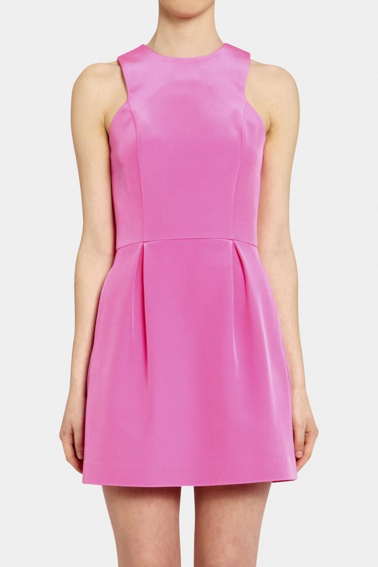 2014 appealing satin halter applique long actual first communion pink wedding dress