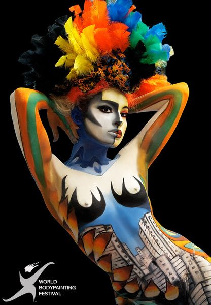 Living ColorColors Ful, Body Painting, Makeup Art, Body Art, Living Colors, Painting Body, Awesome Art, Bodypaint Bodyart, Bodypaint Festivals