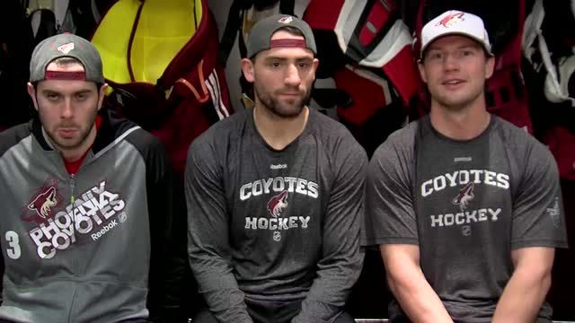 01/31/2014 - Coyotes captain Shane Doan, players Paul Bissonnette and & Keith Yandle with their annual Super Bowl picks. For those not following Phoenix Coyotes Shane Doan contracted Rocky Mountain fever which is spread by ticks and had been out a portion of the season. This may help explain the banter. Seahawks vs. Broncos Video - NHL VideoCenter - Phoenix Coyotes