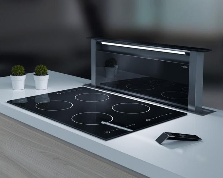 Cooking Hood - Elica Down Draft Hood- Love the downdraft hood! Perfect for a minimal design. & 18 best cooker hoods images on Pinterest | Cooker hoods Kitchen ...