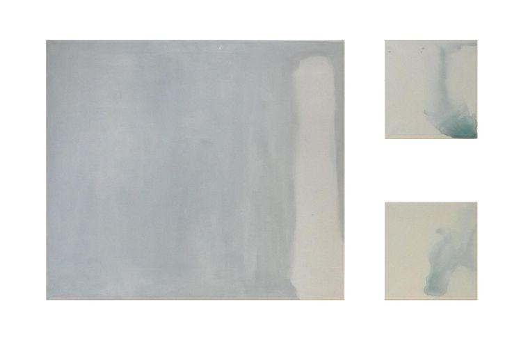 """""""RESPIRI"""" ROBERTA acrilico su tela; 150X80; 2014   Questo lavoro, che si ispira alle parole""""energia"""" e """"semplificazione della vita"""", è stato realizzato intervenendo sulla superficie con macchie di colore acrilico molto diluito, quasi acquerellato, alla ricerca di una trasparenza che al contempo sconfini dala barriera bidimensionale."""