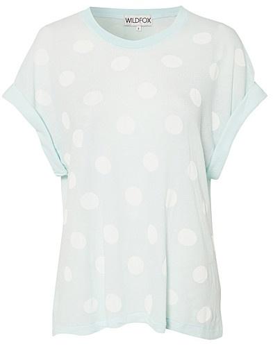 Polka Dots Boyfit Tee - Wildfox - Mint grøn - Toppe - Tøj - NELLY.COM