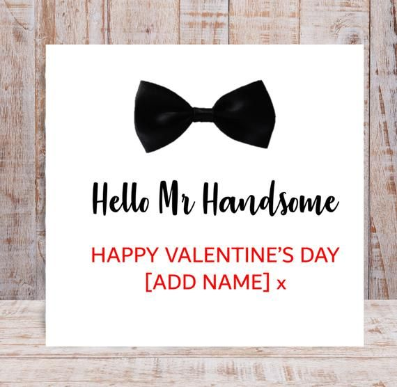 Personalised Mr Handsome Valentine S Day Card For Husband