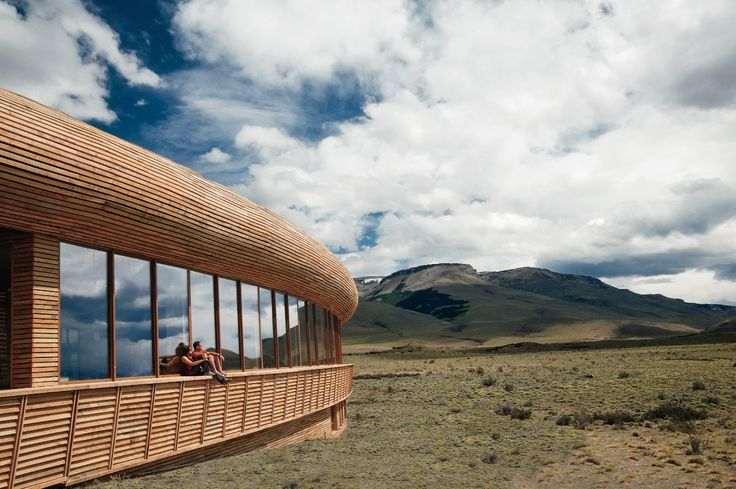 Built to look as unadorned as possible, #Chile's Tierra Patagonia resort blends right in with the rugged terrain.