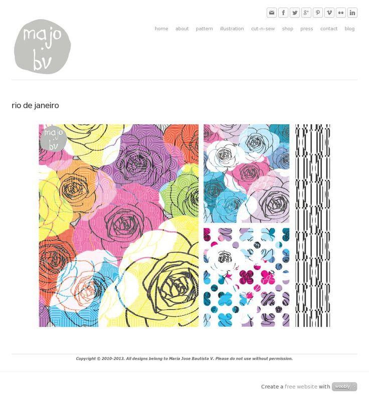 Rio de Janeiro by ©MaJoBV http://www.majobv.com/rio-de-janeiro.html :: pattern :: floral :: geometric :: op-art