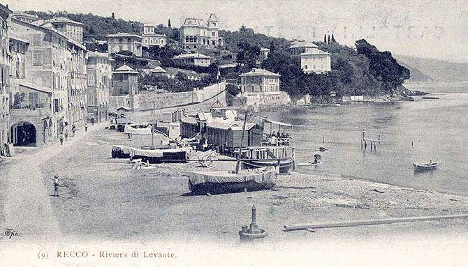 RECCO - FOTO STORICHE CARTOLINE ANTICHE E RICORDI DELLA LIGURIA